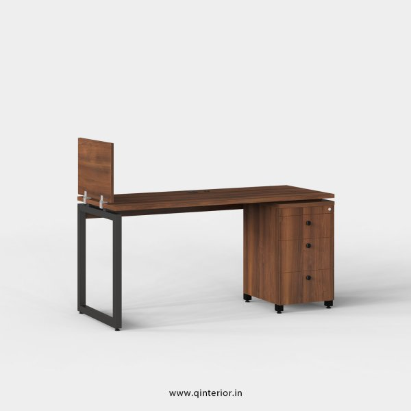 Aaron Work Station with Pedestal Unit in Teak Finish - OWS121 C3