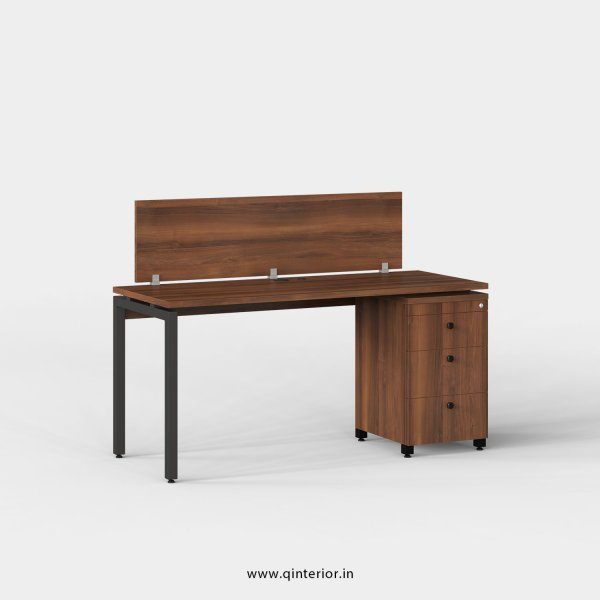 Montel Work Station with Pedestal Unit in Teak Finish - OWS117 C3