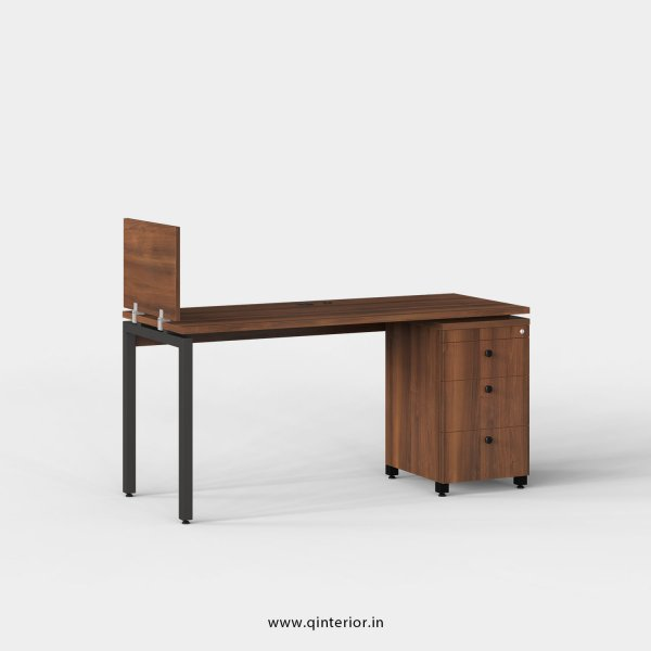 Montel Work Station with Pedestal Unit in Teak Finish - OWS121 C3