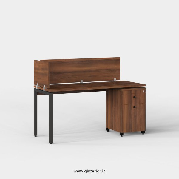 Montel Work Station with Pedestal Unit in Teak Finish - OWS222 C3