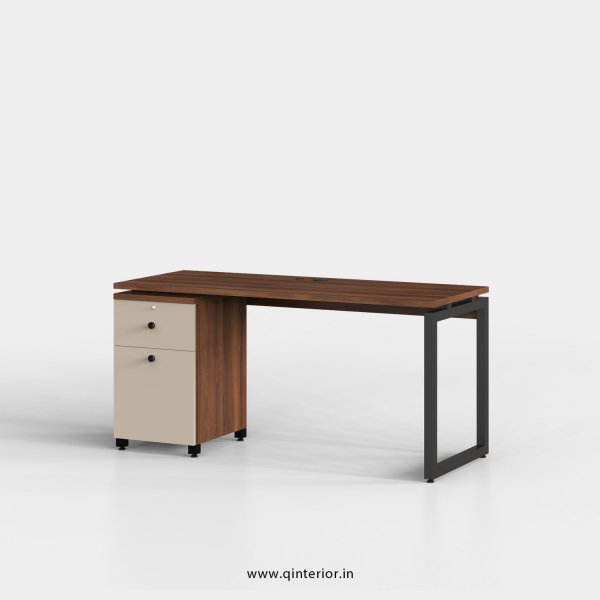 Aaron Work Station with Pedestal Unit in Teak and Irish Cream Finish - OWS201 C11