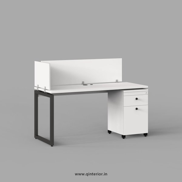 Aaron Work Station with Pedestal Unit in White Finish - OWS222 C4