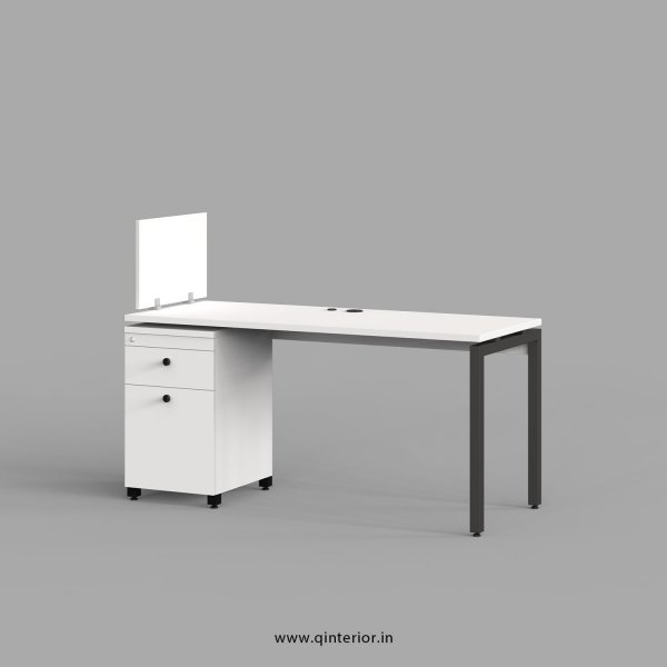 Montel Work Station with Pedestal Unit in White Finish - OWS219 C4