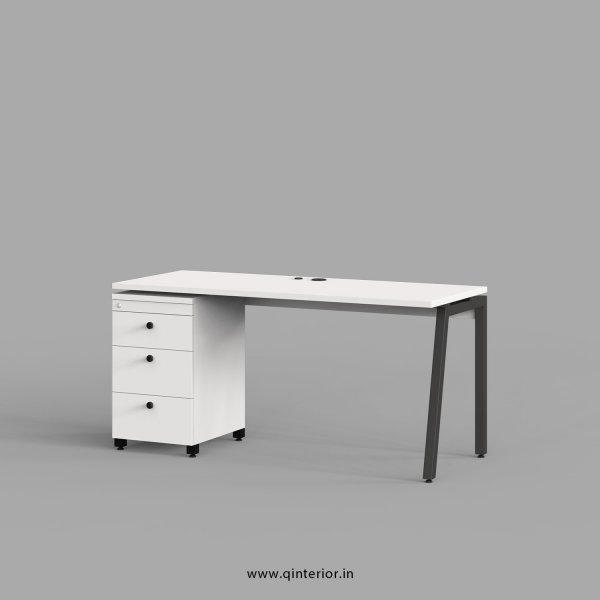 Berg Work Station with Pedestal Unit in White Finish - OWS114 C4