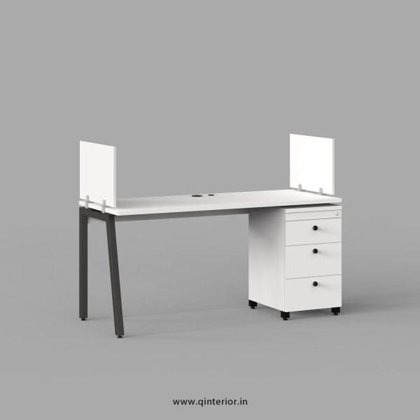 Berg Work Station with Pedestal Unit in White Finish - OWS119 C4