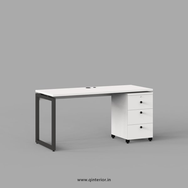Aaron Work Station with Pedestal Unit in White Finish - OWS103 C4