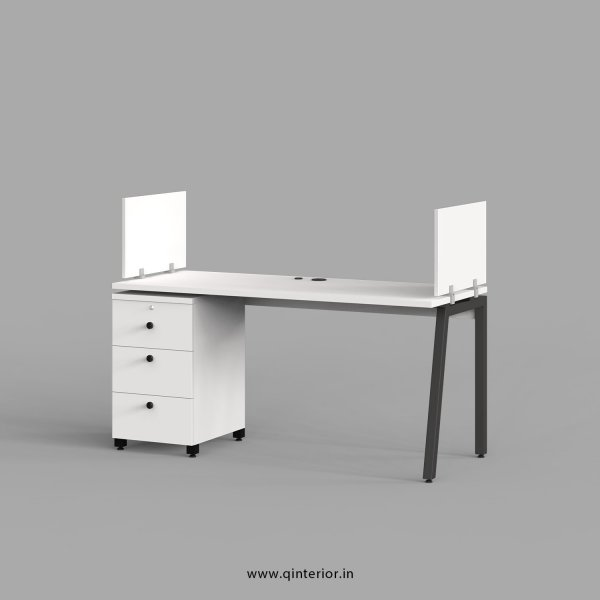Berg Work Station with Pedestal Unit in White Finish - OWS106 C4