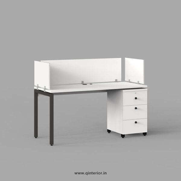 Montel Work Station with Pedestal Unit in White Finish - OWS113 C4