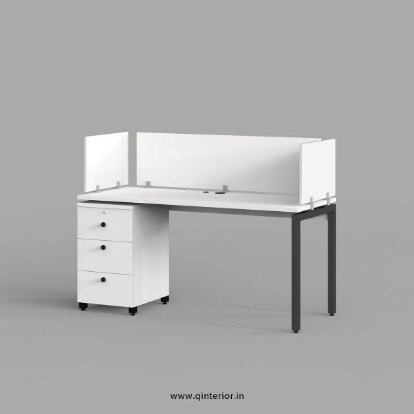 Montel Work Station with Pedestal Unit in White Finish - OWS112 C4