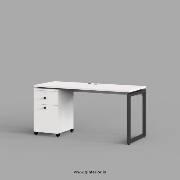 Aaron Work Station with Pedestal Unit in White Finish - OWS201 C4