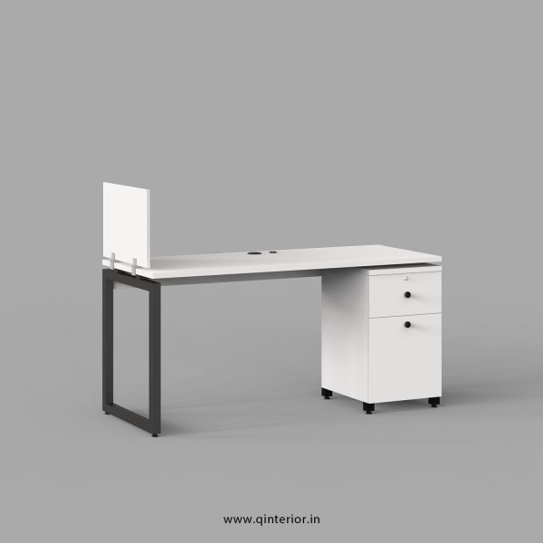 Aaron Work Station with Pedestal Unit in White Finish - OWS208 C4