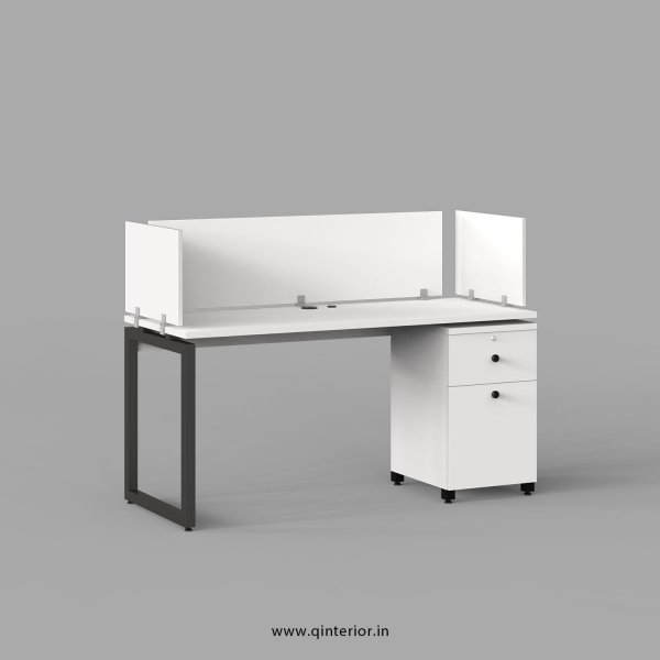 Aaron Work Station with Pedestal Unit in White Finish - OWS212 C4