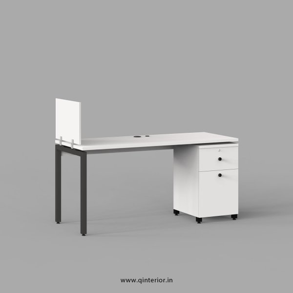 Montel Work Station with Pedestal Unit in White Finish - OWS208 C4